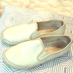 GAP White Slip-On Sneakers